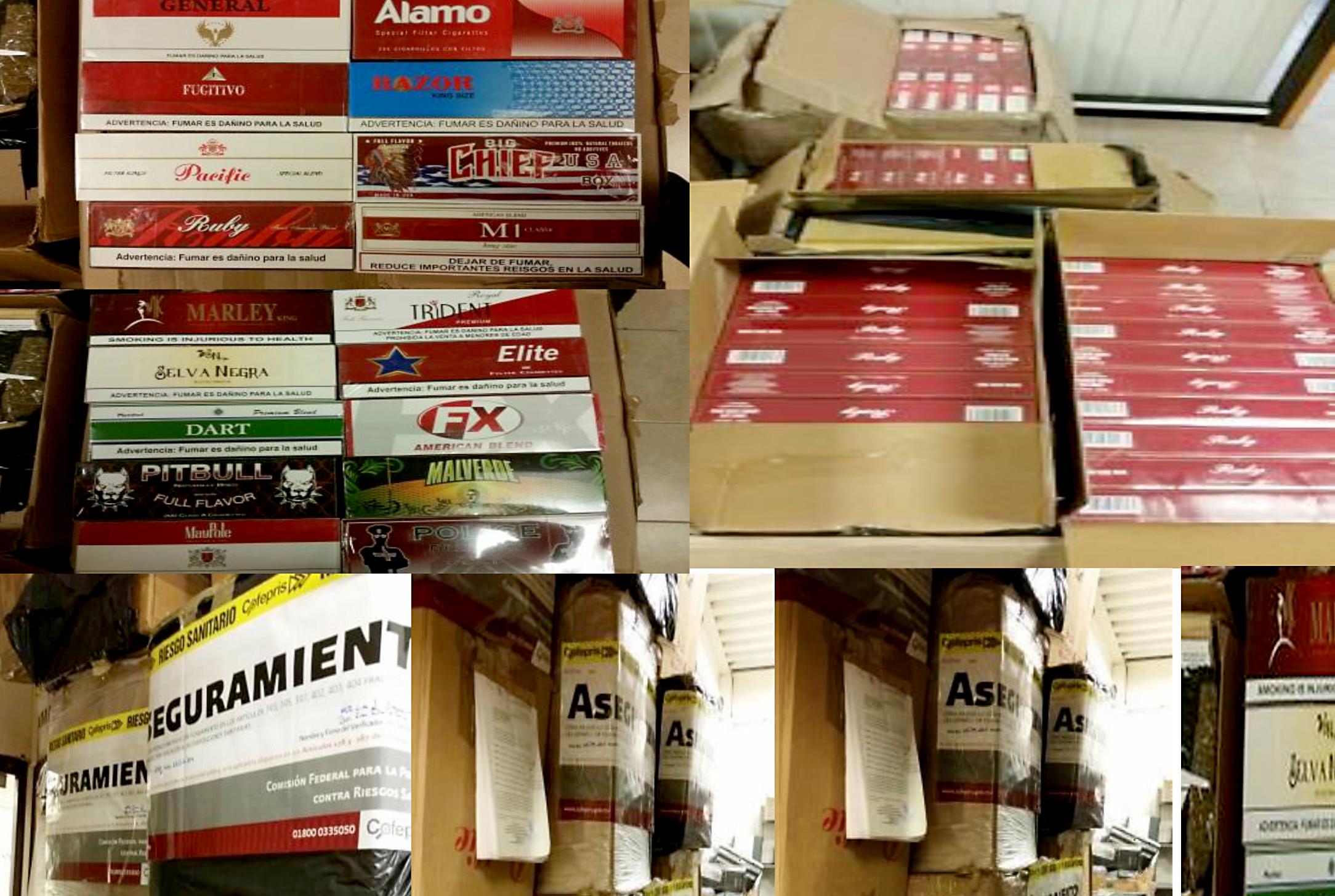 La Cofepris y PGR aseguran más de 230 mil cigarrillos ilegales en Torreón, Coahuila