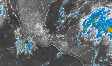 Tormentas intensas, se prevén en zonas de Veracruz y muy fuertes en sitios de Chiapas, Tabasco y Quintana Roo