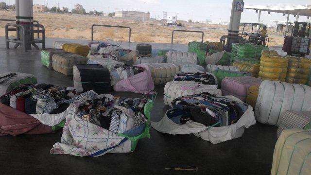 Aseguran Cofepris y Sat 60.4 toneladas de ropa usada en Sonora