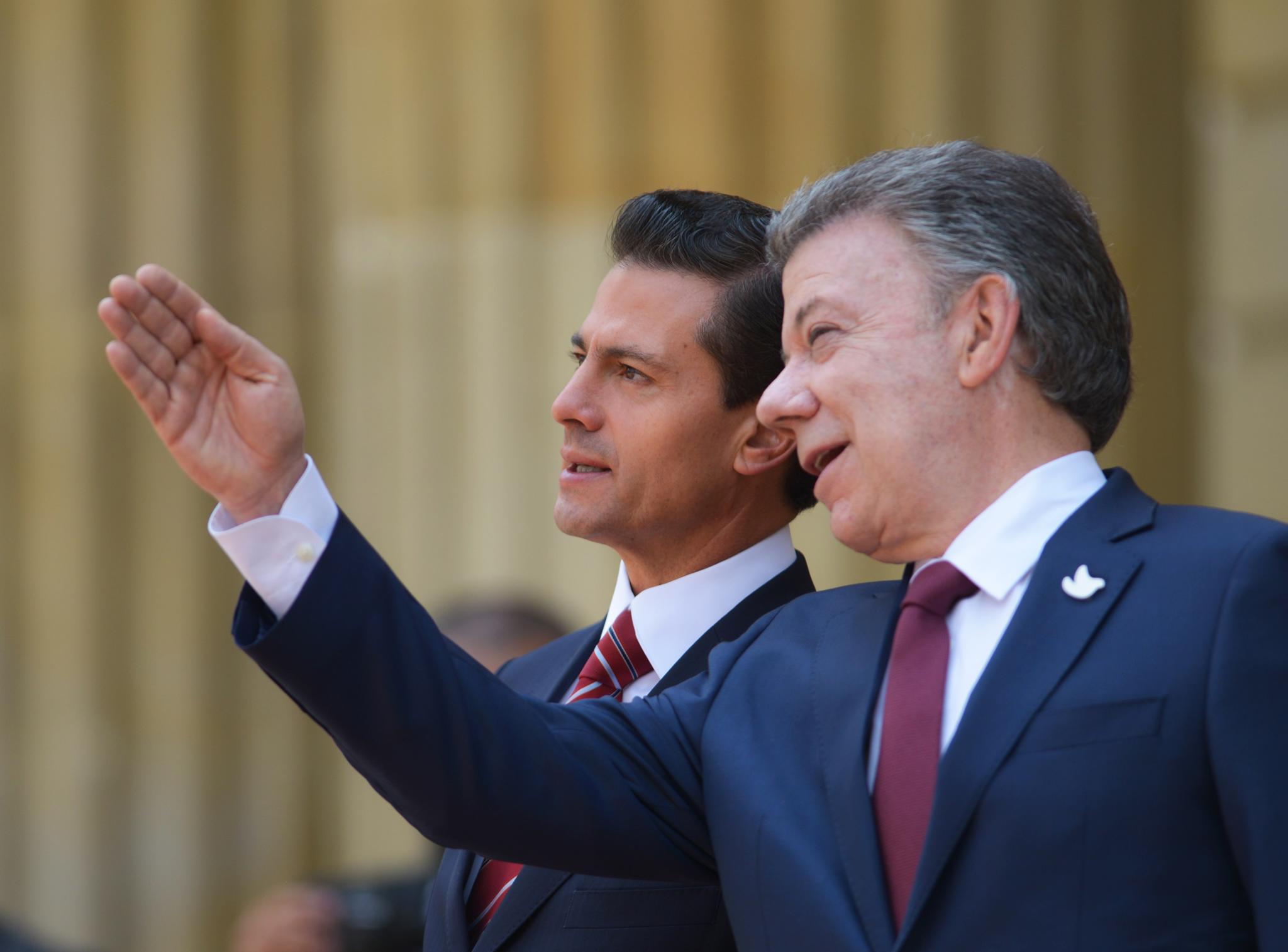 Reconoce el Presidente Peña Nieto al Presidente Santos su voluntad inquebrantable por alcanzar la paz en Colombia