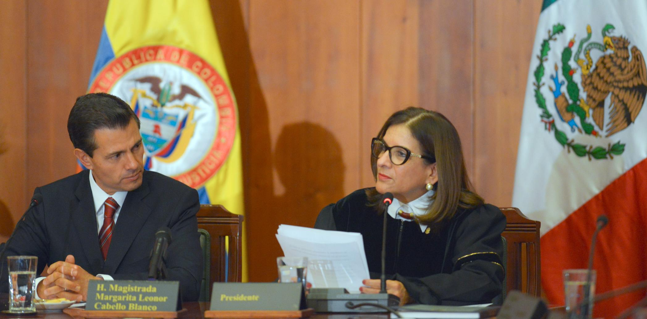 The president stressed that Mexico and Colombia have had mutual learning that has improved the administration of justice.