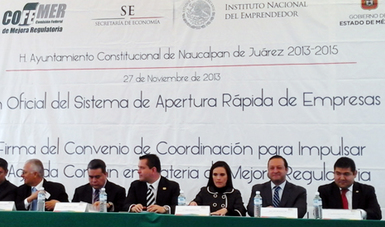 Trabajo Coordinado entre Naucalpan de Juárez y COFEMER para impulsar la política de mejora regulatoria