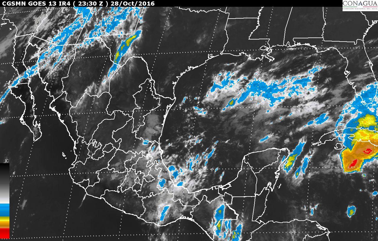Continúa el pronóstico de tormentas intensas en Veracruz y Quintana Roo, para las siguientes horas.