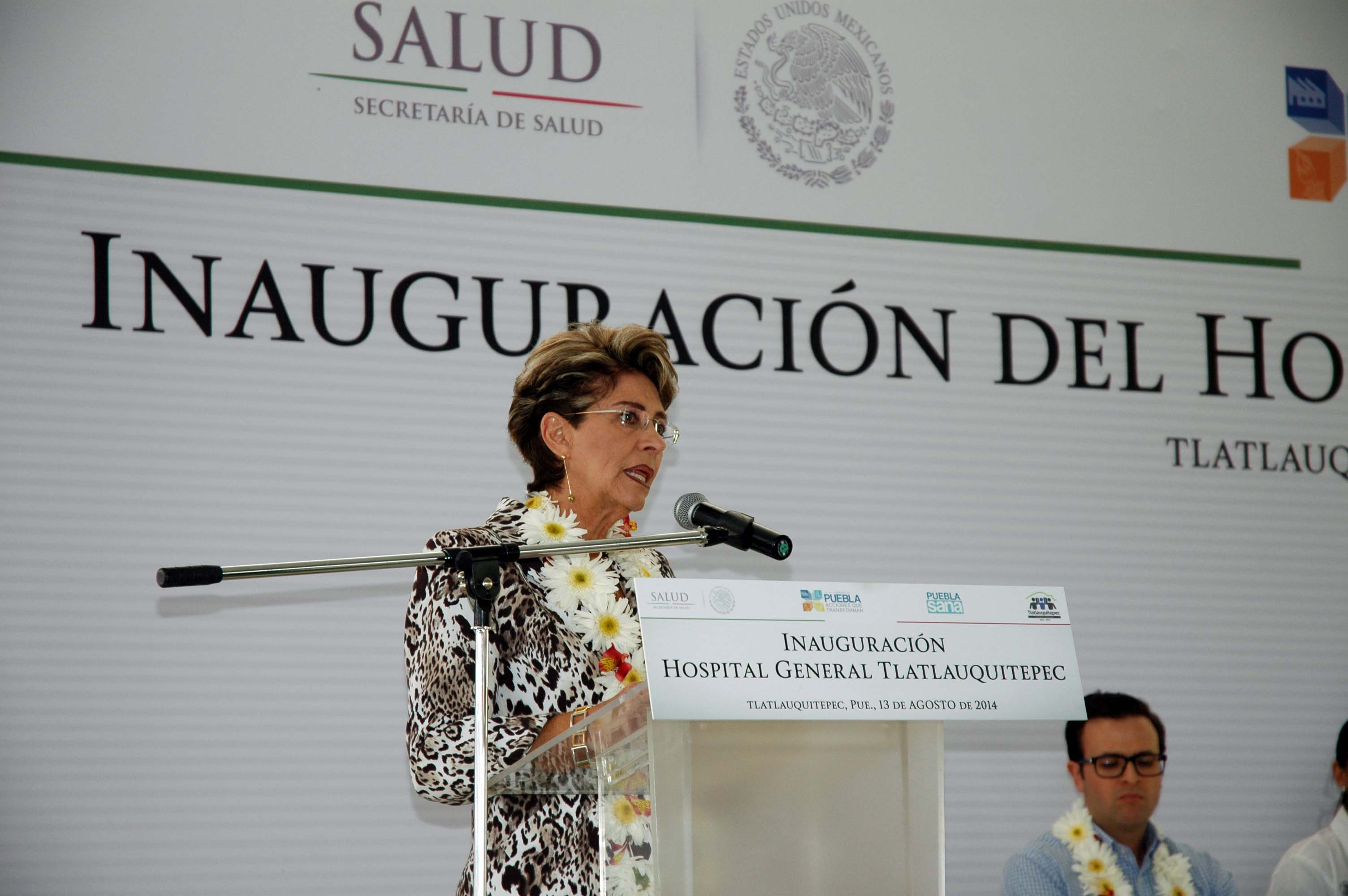 Inauguración del Hospital General de Tlatlauquitepec
