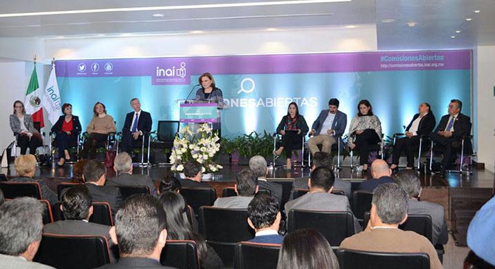 Mensaje de la Mtra. Arely Gómez durante el Lanzamiento de la Plataforma Comisiones Abiertas, en el INAI