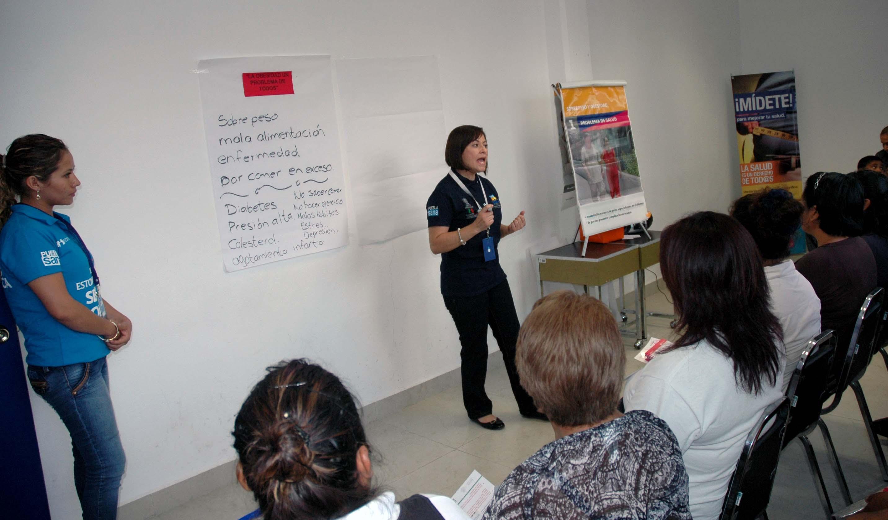 Centros de salud en Puebla fortalecen cultura de autocuidado