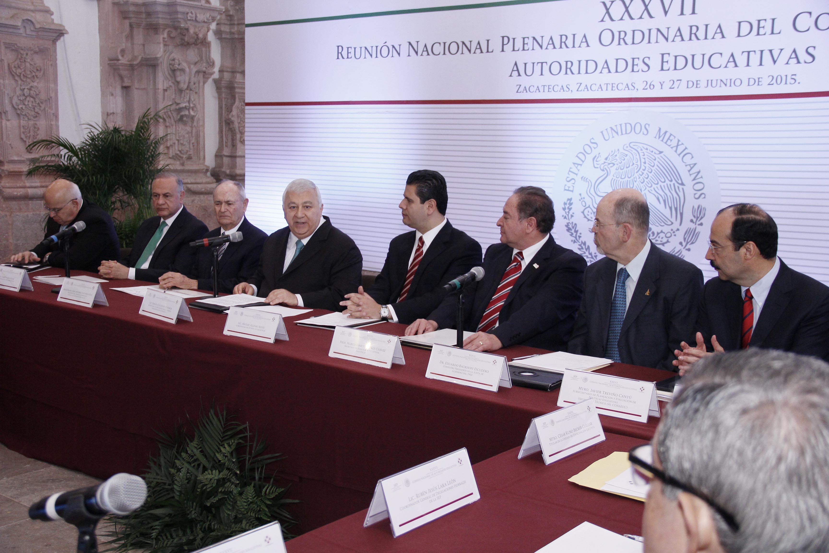 El secretario de Educación pública inauguró la XXXVII Reunión Nacional Plenaria Ordinaria del Conaedu