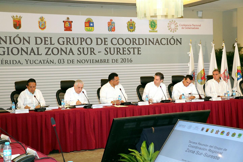 El secretario Aurelio Nuño inauguró la Tercera Reunión del Grupo de Coordinación Regional Zona Sur-Sureste