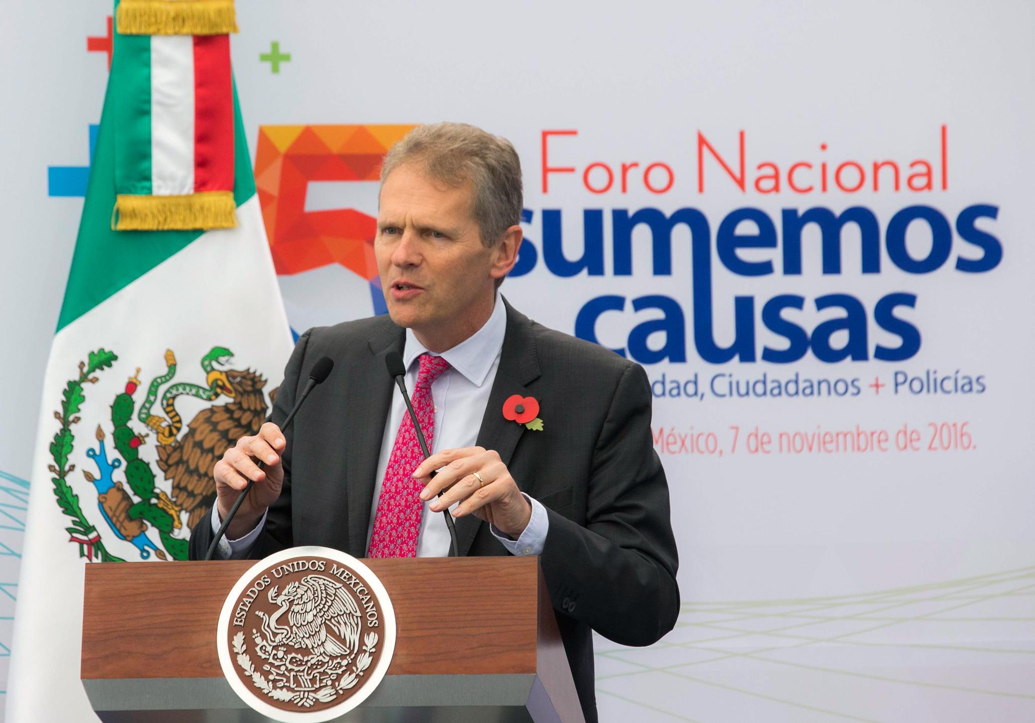 """""""Creo que podemos llegar a invertir como 10 veces más en los próximos cinco años, de lo que invertimos en los últimos cinco"""", Duncan Taylor, Embajador en México del Reino Unido."""