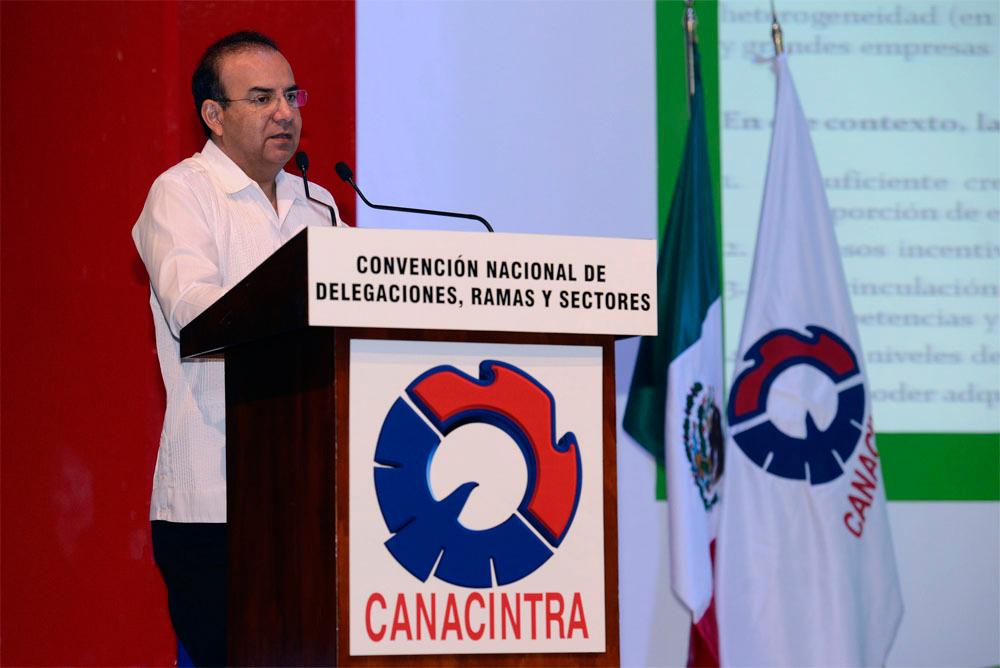 El titular de la dependencia, Alfonso Navarrete Prida, inauguró la Convención Nacional de Delegaciones, Sectores y Ramas Industriales de la CANACINTRA.