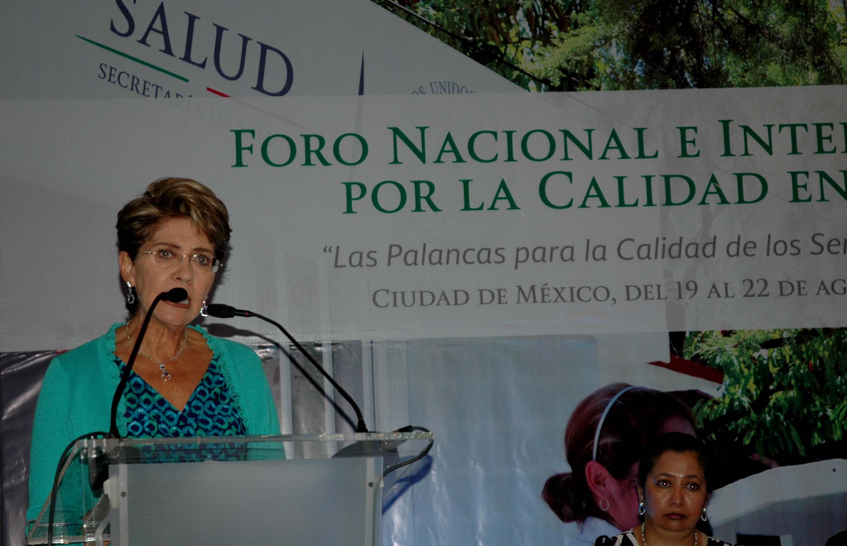 Inaugura Mercedes Juan Foro Internacional por la Calidad en Salud