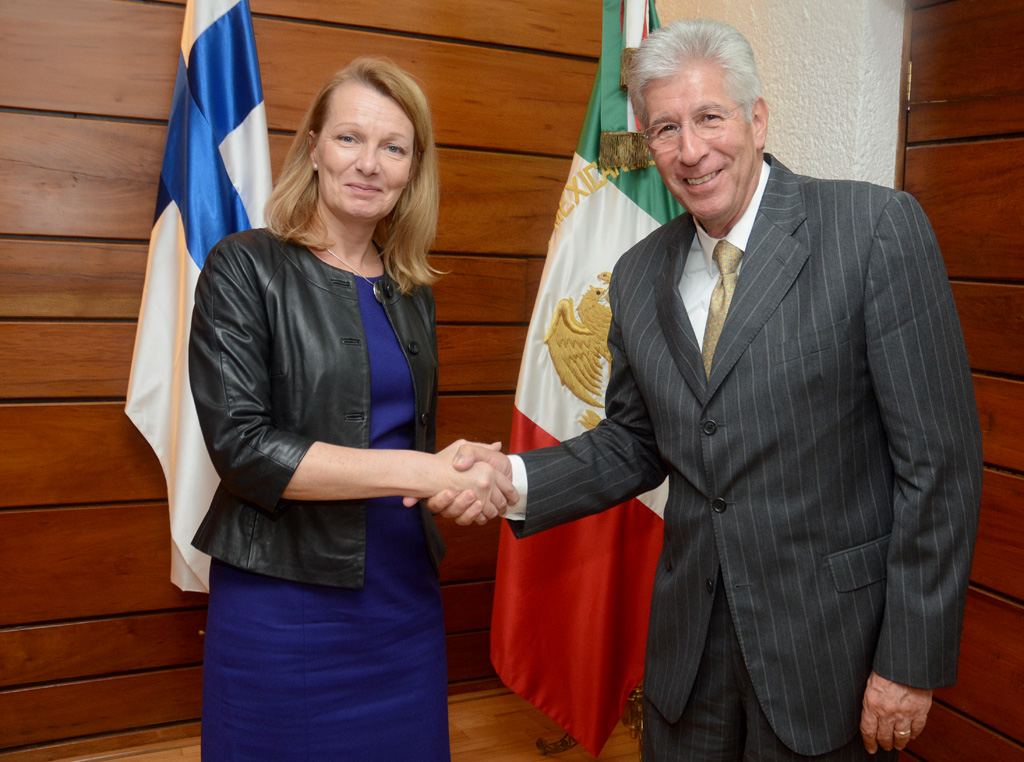 Se reunió GRE con Ministra de Asuntos Europeos y Comercio Exterior de Finlandia