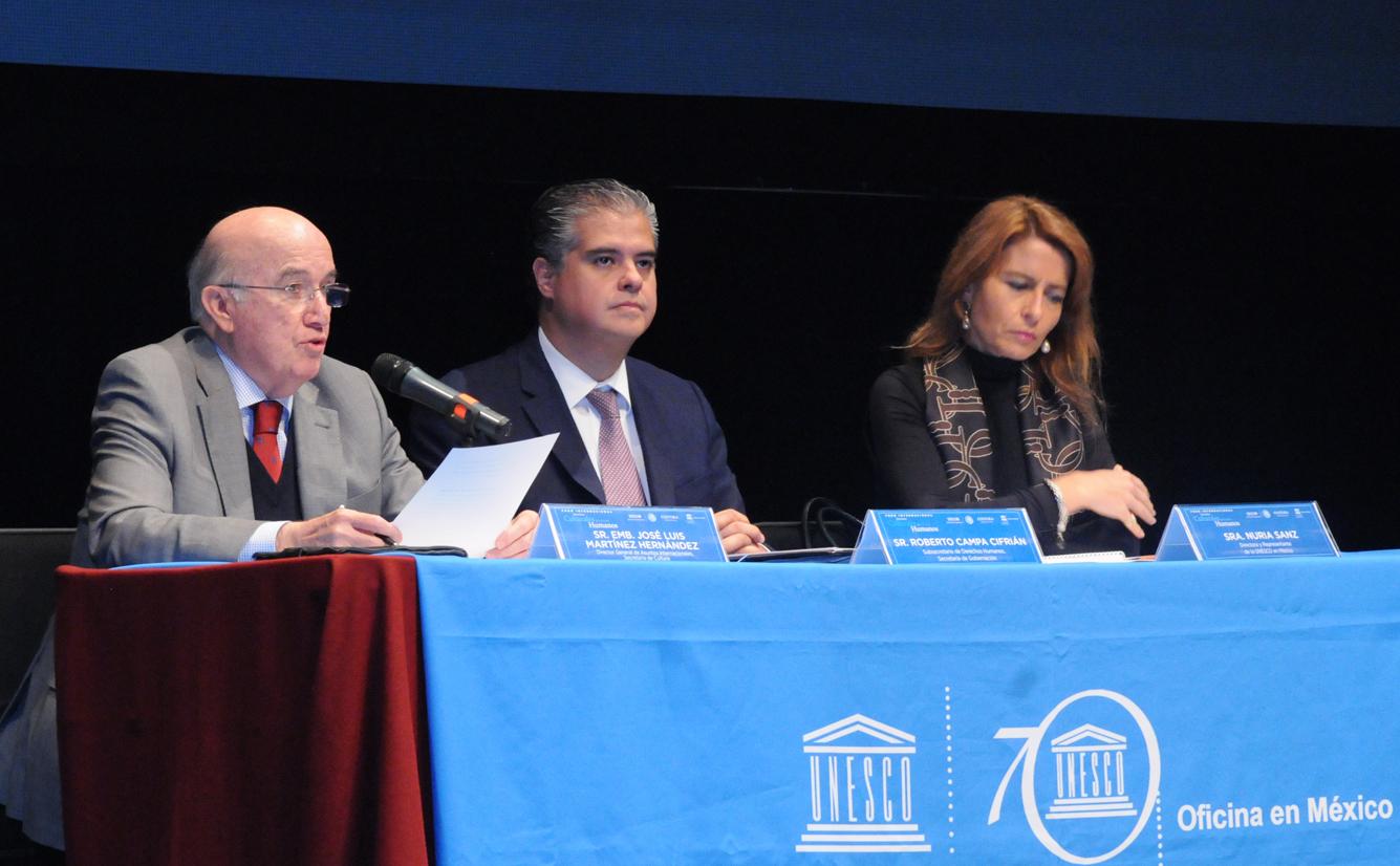 Inauguran el foro internacional derechos culturales y for Oficina nacional de fiscalidad internacional