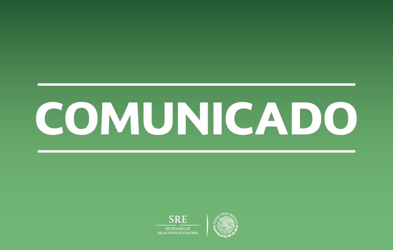 El Gobierno de México felicita a Colombia por la conclusión del Acuerdo de la Esperanza