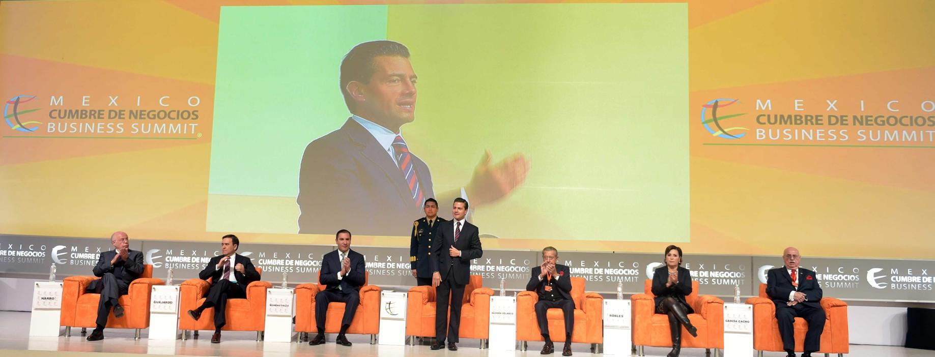 "The president participated in the 14th edition of ""Mexico Business Summit: ""Discovering the New Technological Era""."