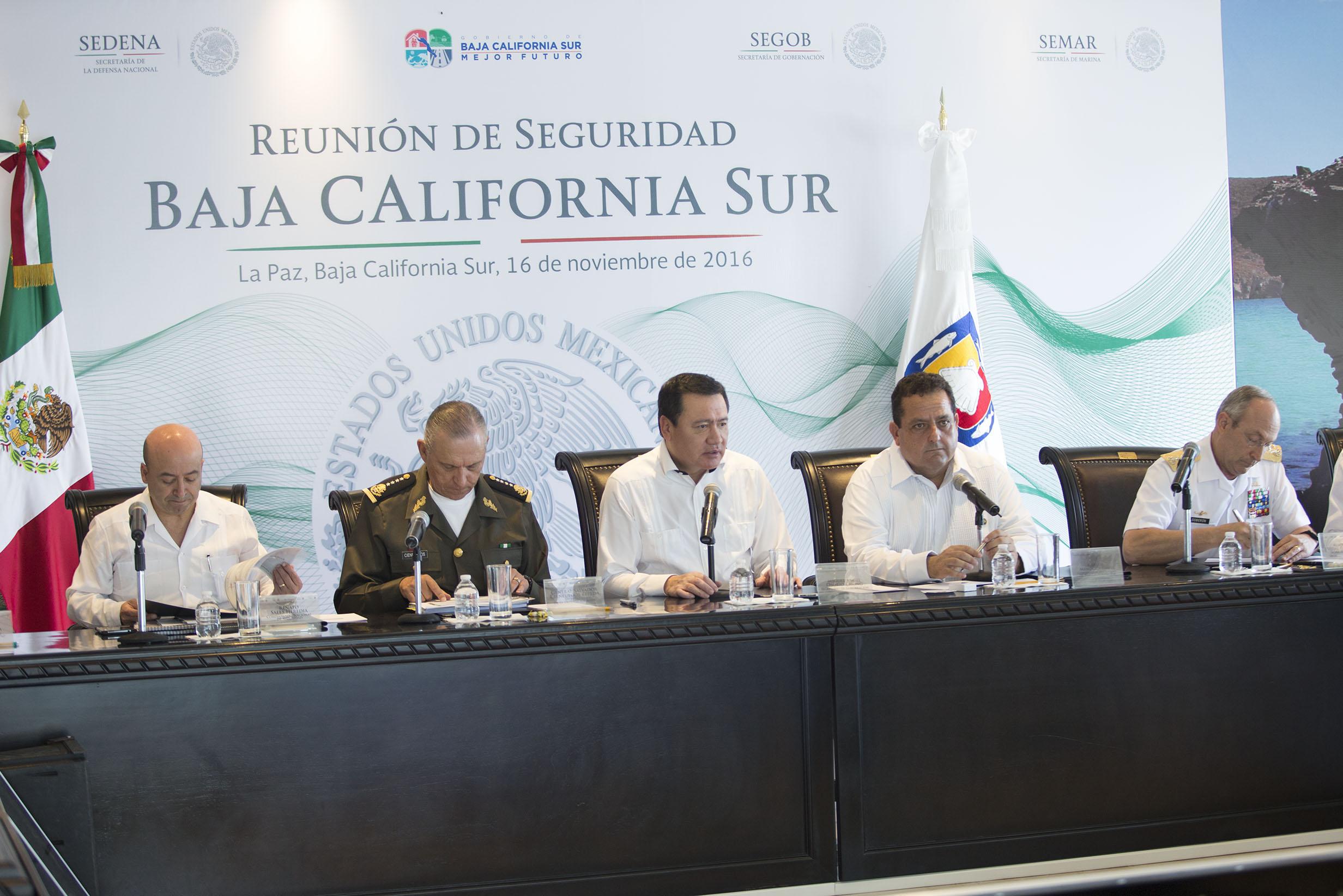 Reunión de Seguridad en la Paz, Baja California Sur