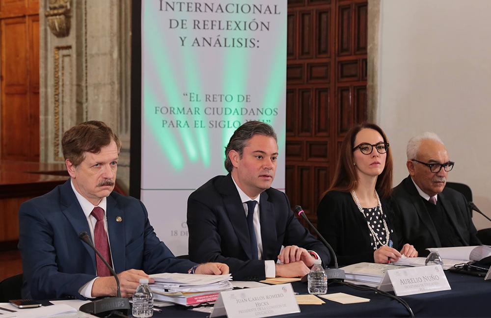 El el foro se dialogó sobre las experiencias y buenas prácticas en materia educativa de México y de otras naciones