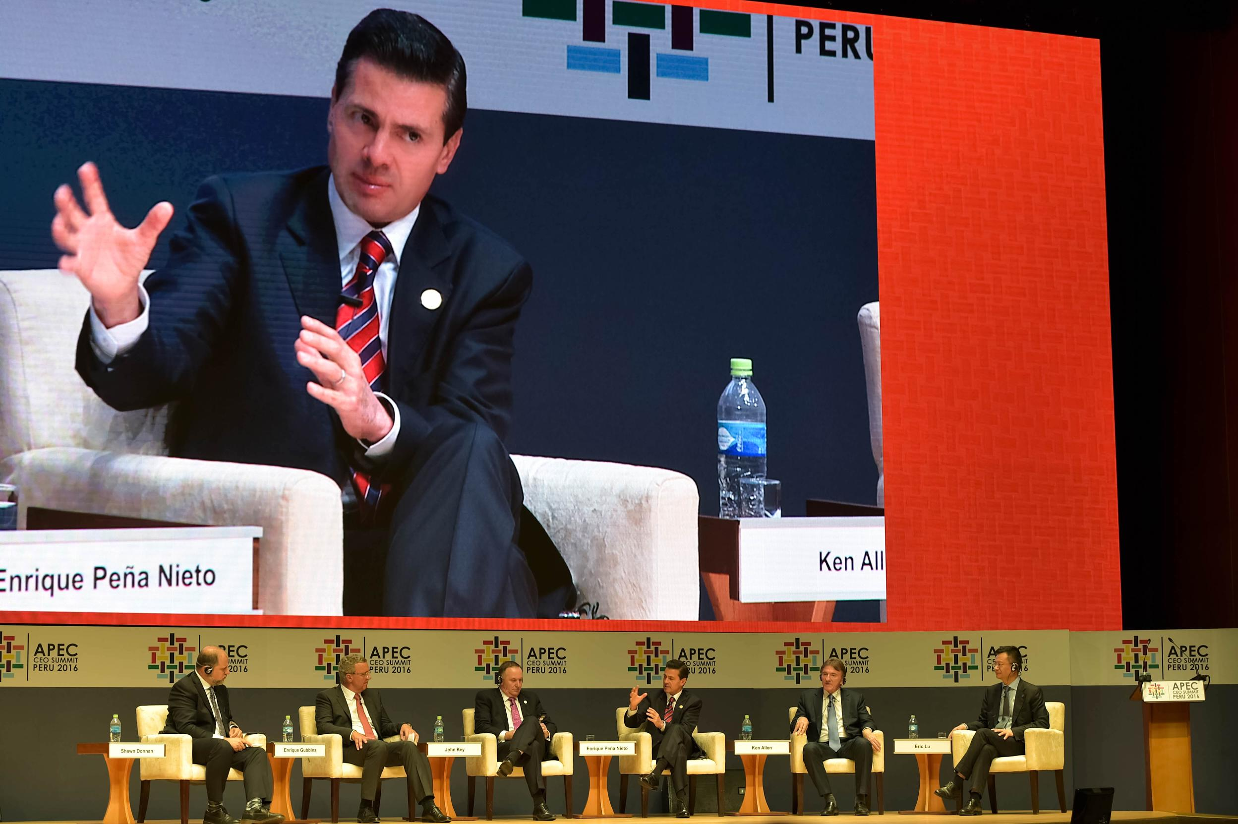 """More than 20 years after its entry into force, he said, """"We have learned that NAFTA can be modernized; elements that were not considered when the agreement was signed can be incorporated"""". EPN"""
