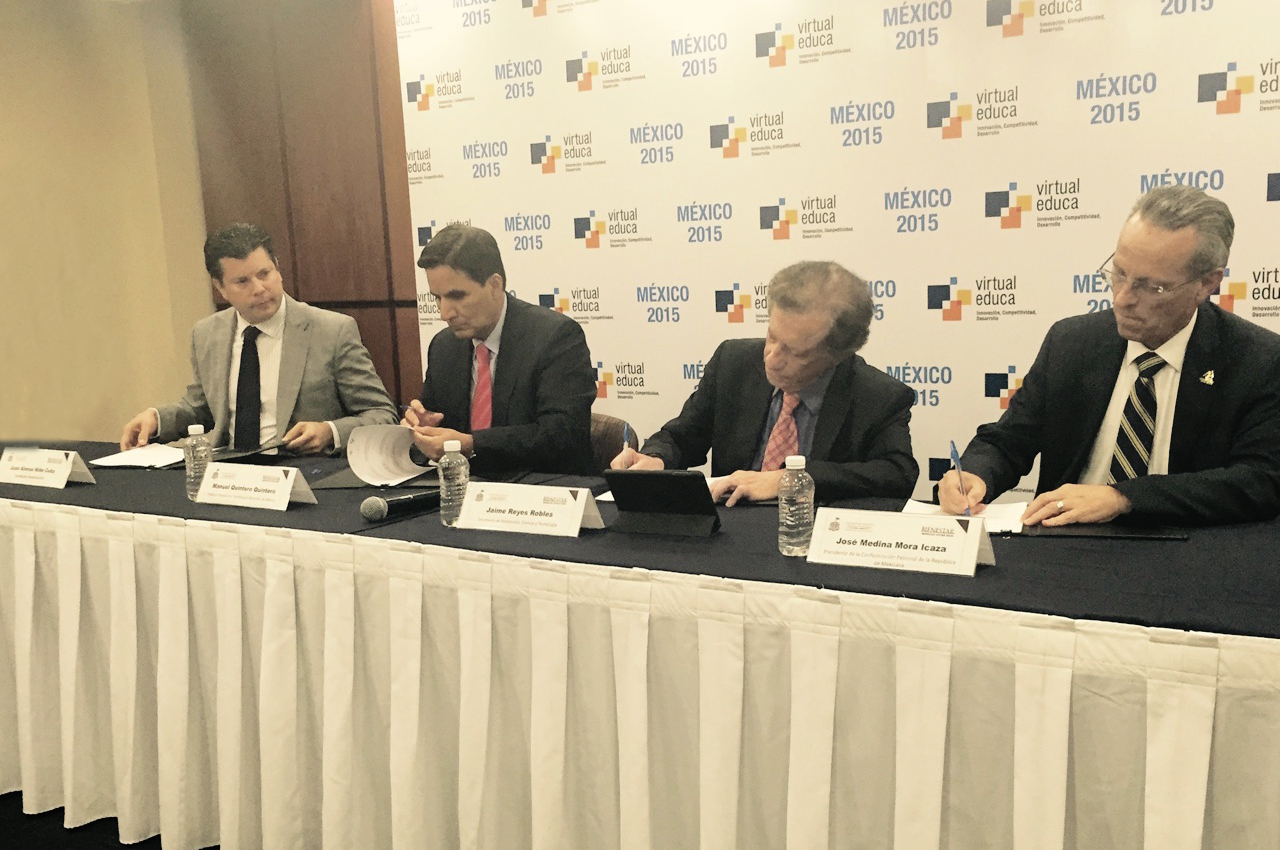 El director general del Tecnológico Nacional de México (TecNM), Manuel Quintero Quintero, dijo que el modelo de vinculación entre academia, empresa y gobierno, sustentado en la educación dual, impulsará el desarrollo de México.