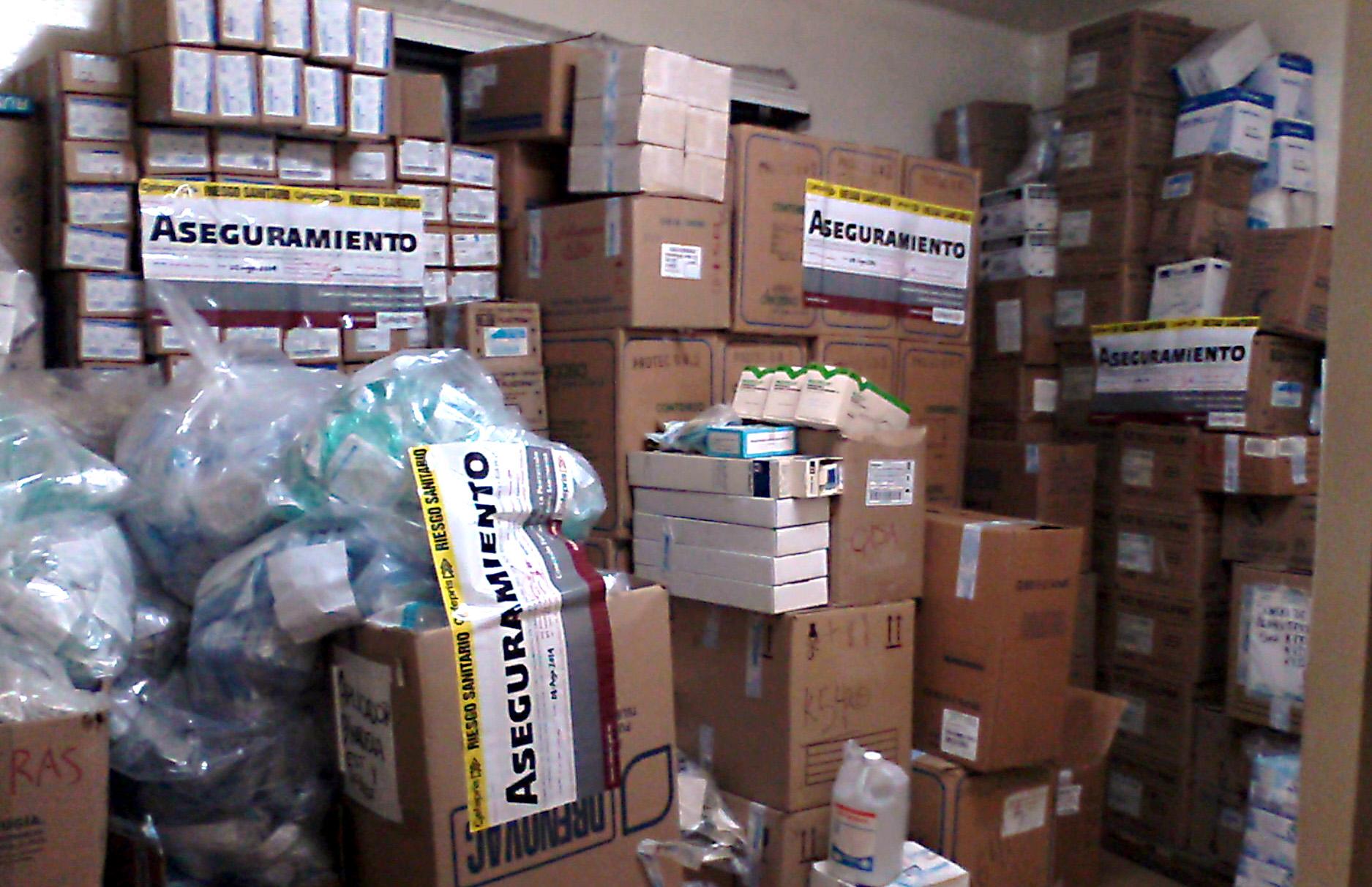 Aseguran casi 400,000 piezas de dispositivos médicos