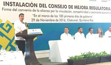 Se instala el Consejo Estatal de Mejora Regulatoria en Quintana Roo
