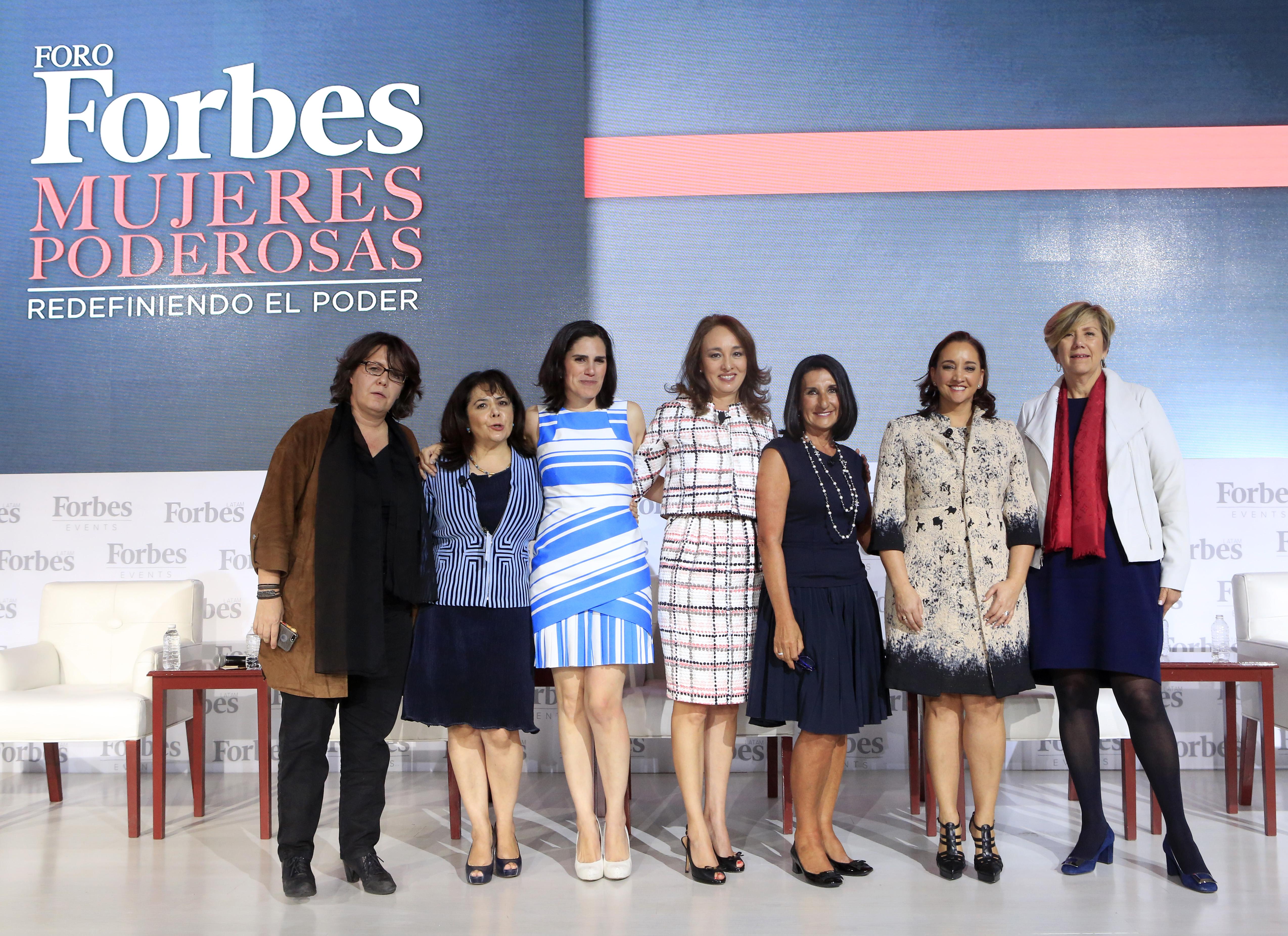 """La Secretaria de Turismo del Gobierno de la República, Claudia Ruiz Massieu, participó en el Foro """"Mujeres Poderosas"""" de la revista Forbes."""