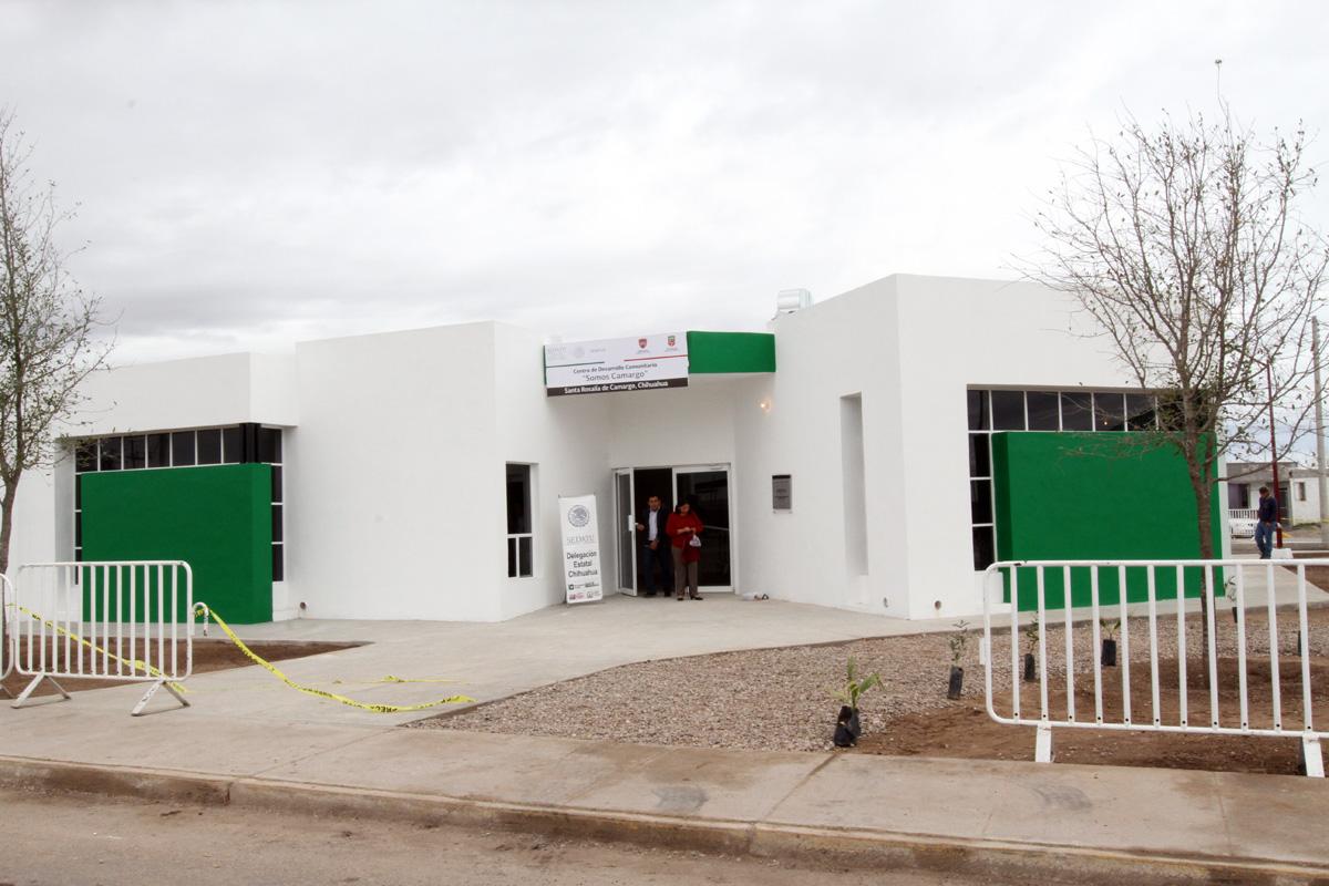 """En la foto, el Centro de Desarrollo Comunitario """"Somos Camargo"""". SEDATU invertirá 220 millones de pesos para recuperar 11 mil viviendas abandonadas en Chihuahua."""