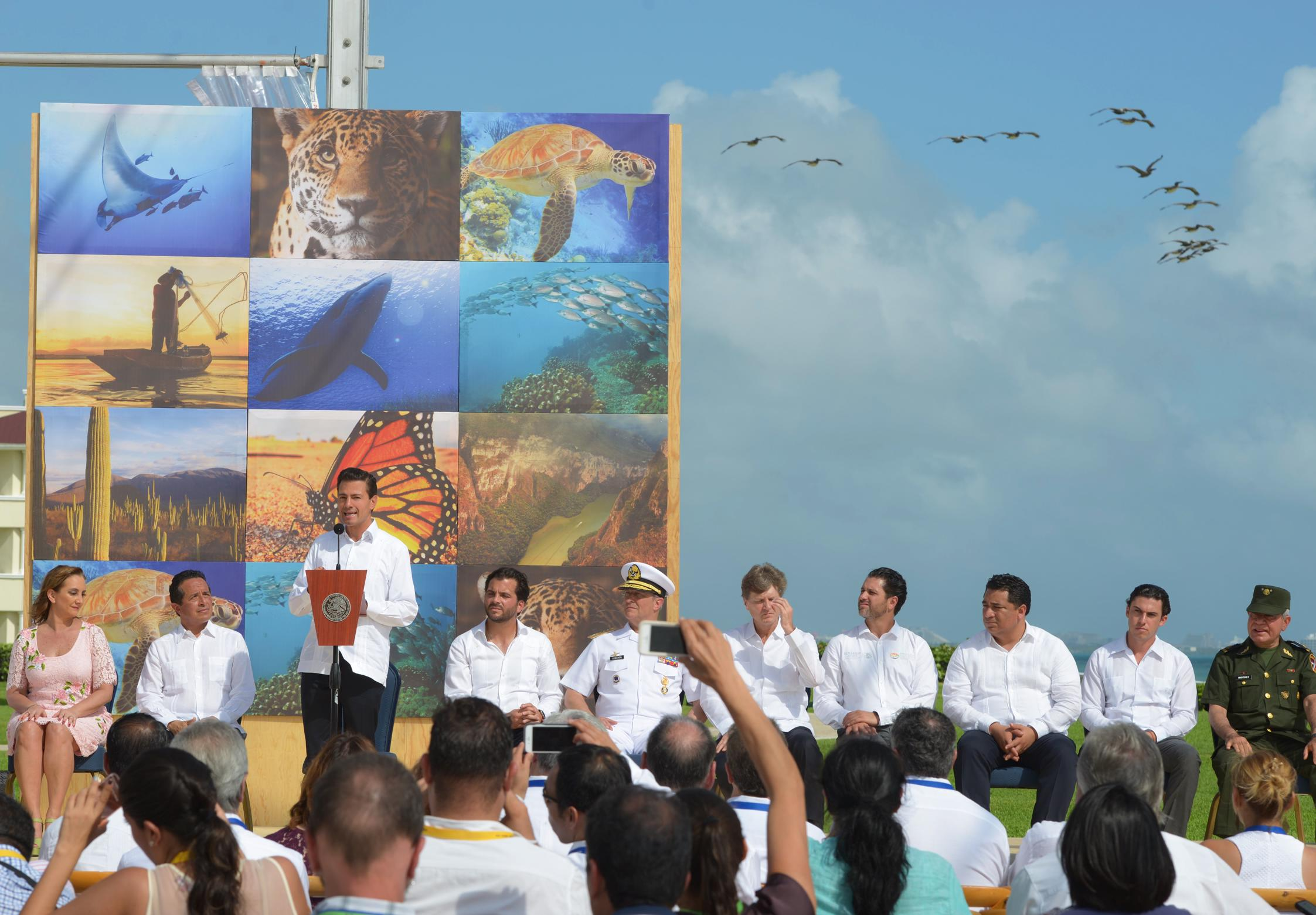 The president explained that the zone designated as a protected area today comprises 65 million hectares.