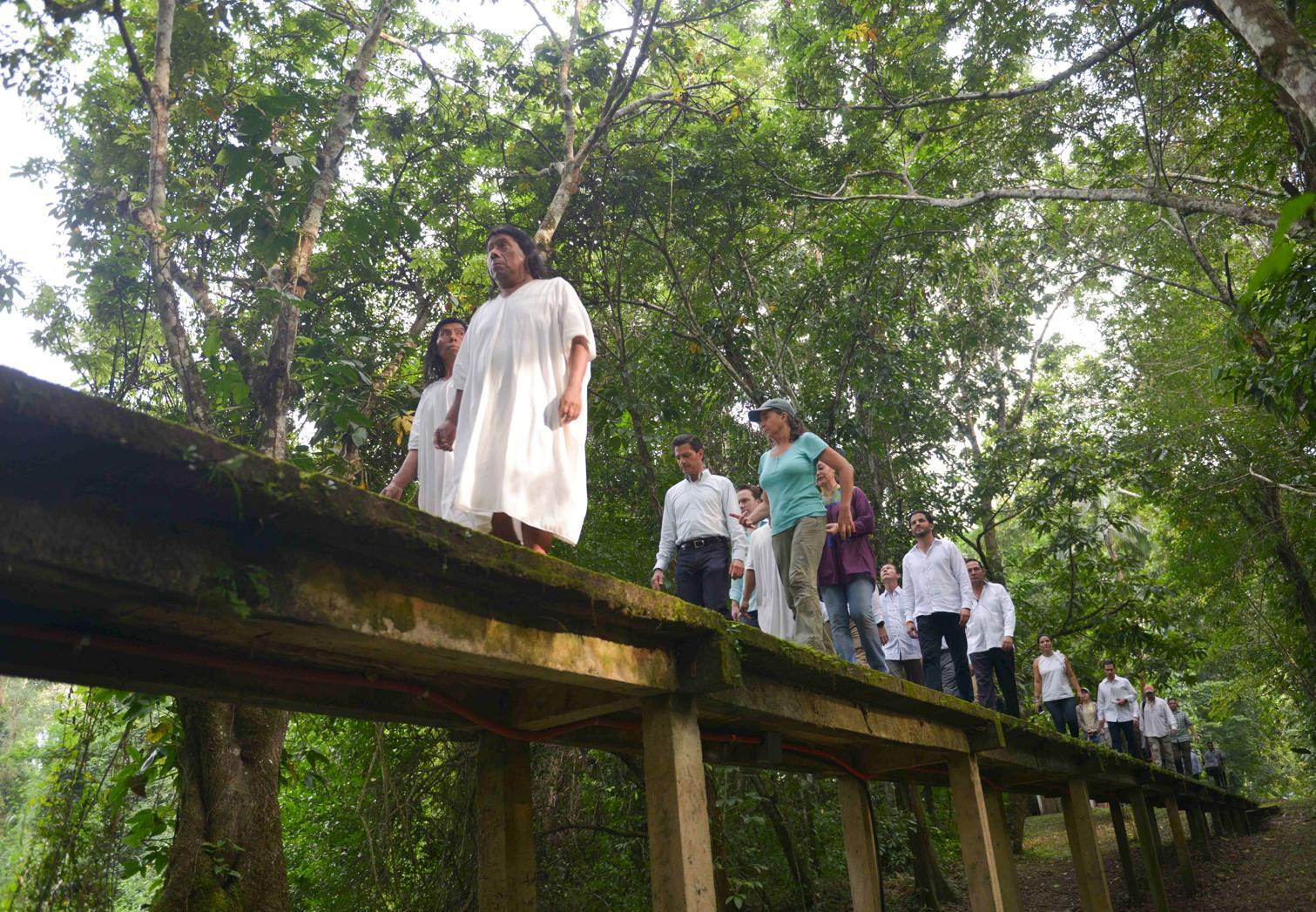 """Esta visita a la Selva Lacandona, """"es una experiencia de vida"""", dijo el Primer Mandatario."""