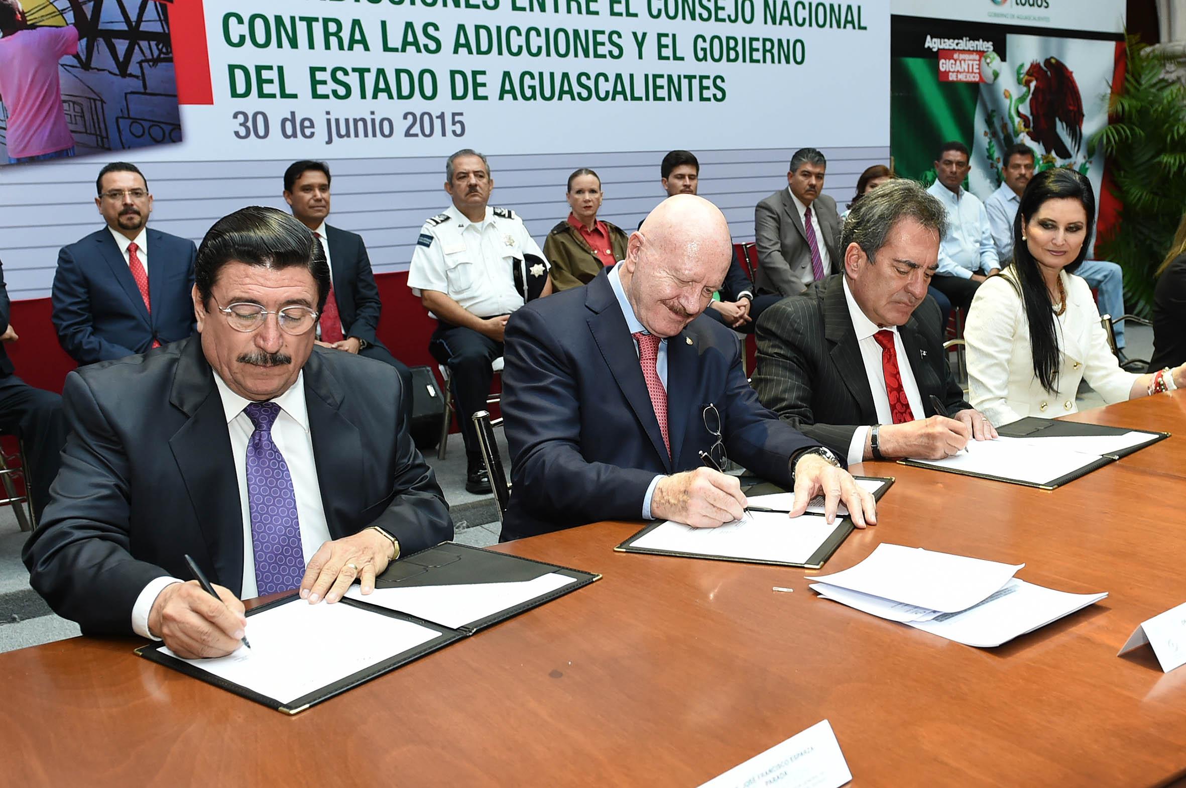 CONADIC y el gobierno de Aguascalientes firmaron convenio Específico para Prevención y Atención Integral de las Adicciones