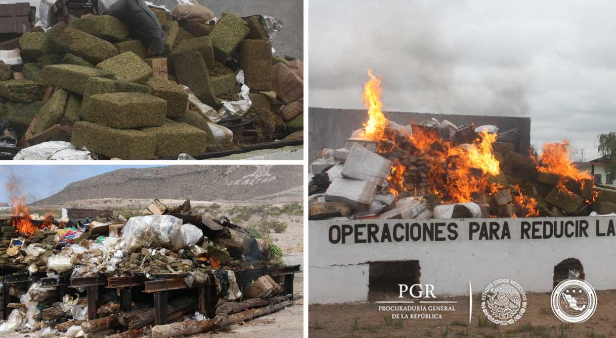 Destruye PGR casi seis toneladas de diversos estupefacientes