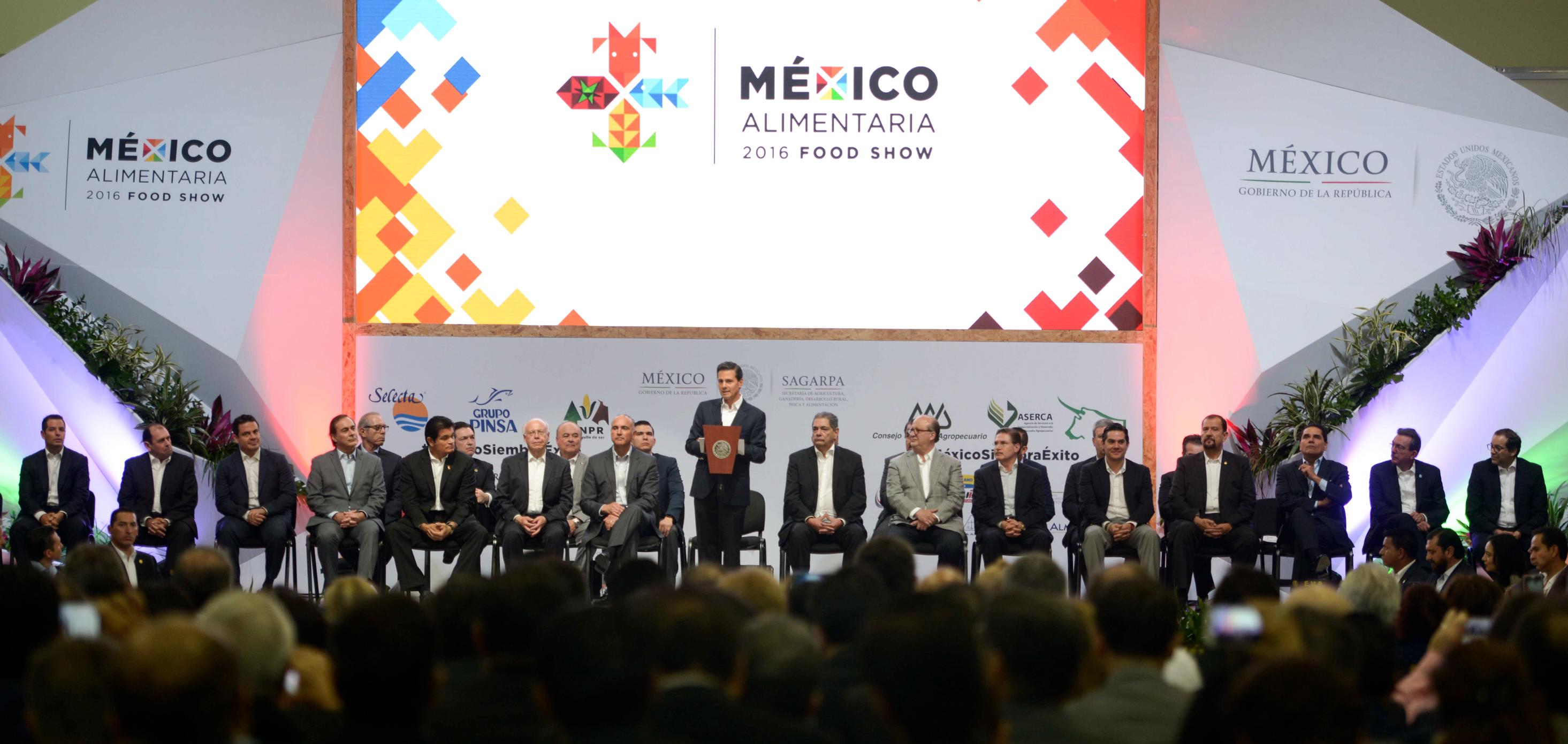 The president inaugurated the Mexico Food Expo, Food Show 2016