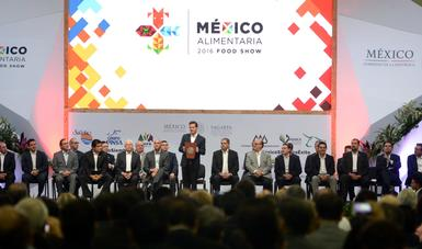 The president inaugurated the Mexico Food Show 2016