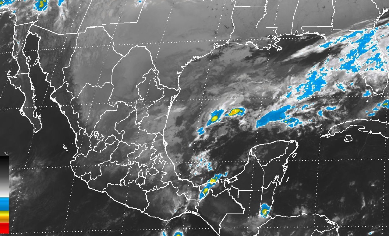 Continuará el ambiente frío en gran parte de México y el evento de Norte en el Golfo de México y el Istmo de Tehuantepec