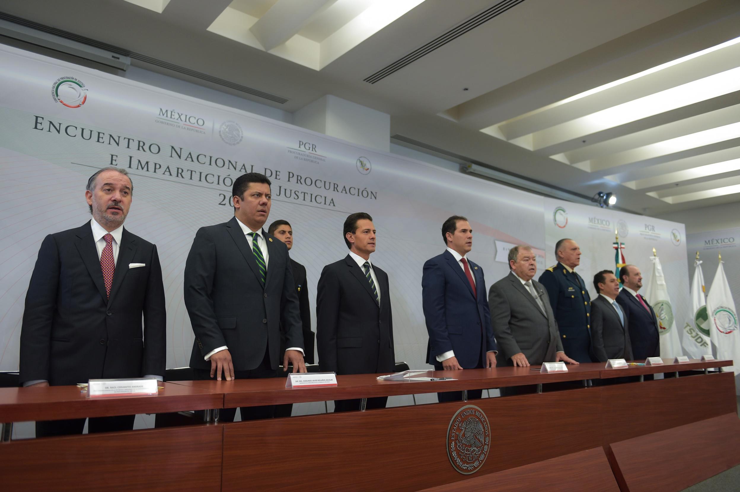 El Primer Mandatario clausuró el Encuentro Nacional de Procuración e Impartición de Justicia 2016.