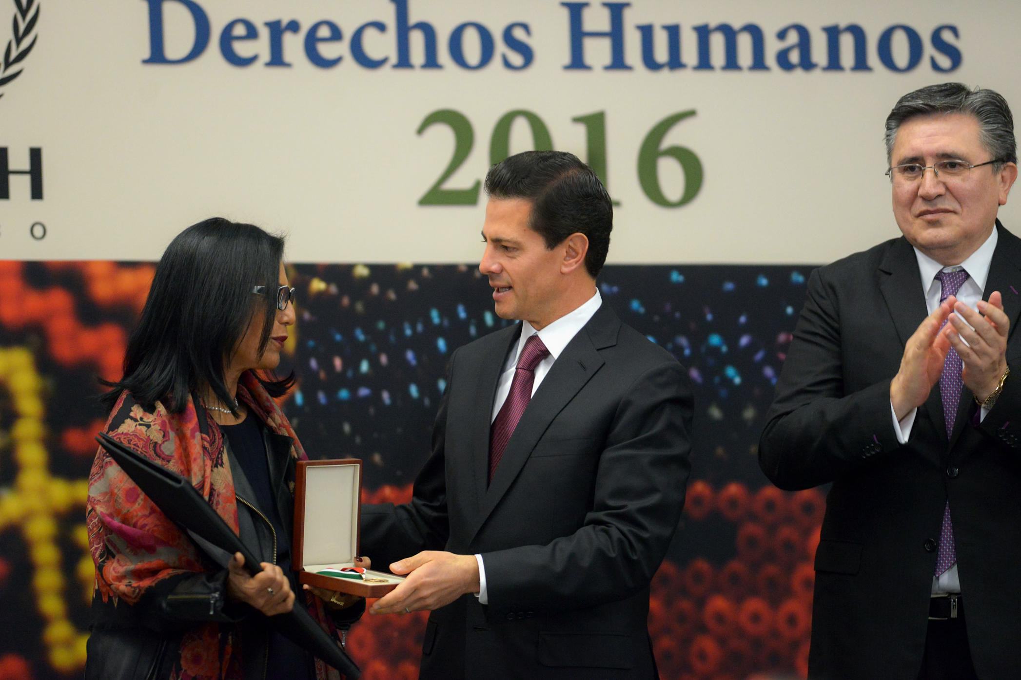 President Peña Nieto confirmed the government's unwavering commitment to the respect and protection of human rights.