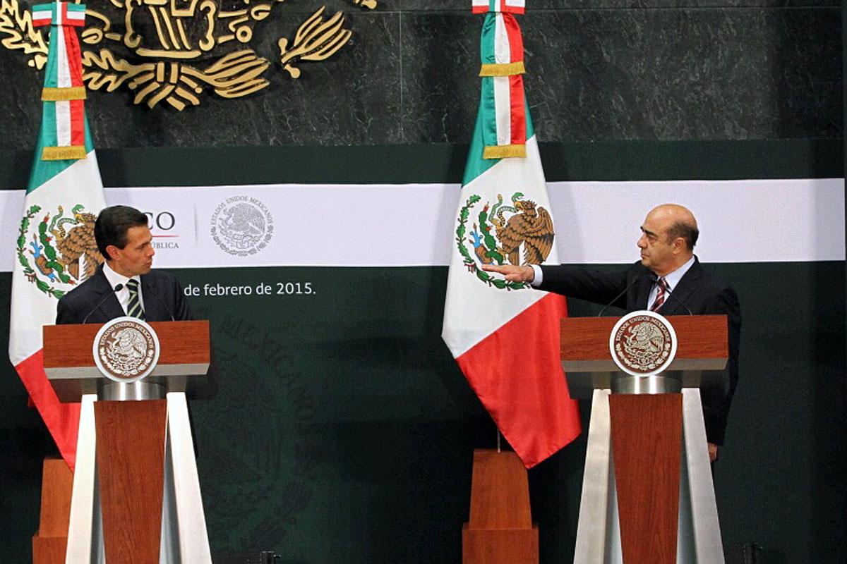 El Presidente Enrique Peña Nieto tomó la protesta de ley, a Jesús Murillo Karam, como titular de la Secretaría de Desarrollo Agrario, Territorial y Urbano (SEDATU).