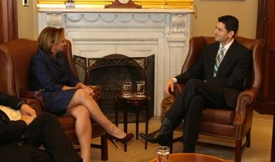 La Secretaria de Relaciones Exteriores Claudia Ruiz Massieu se reúne con actores clave en Washington, D.C.