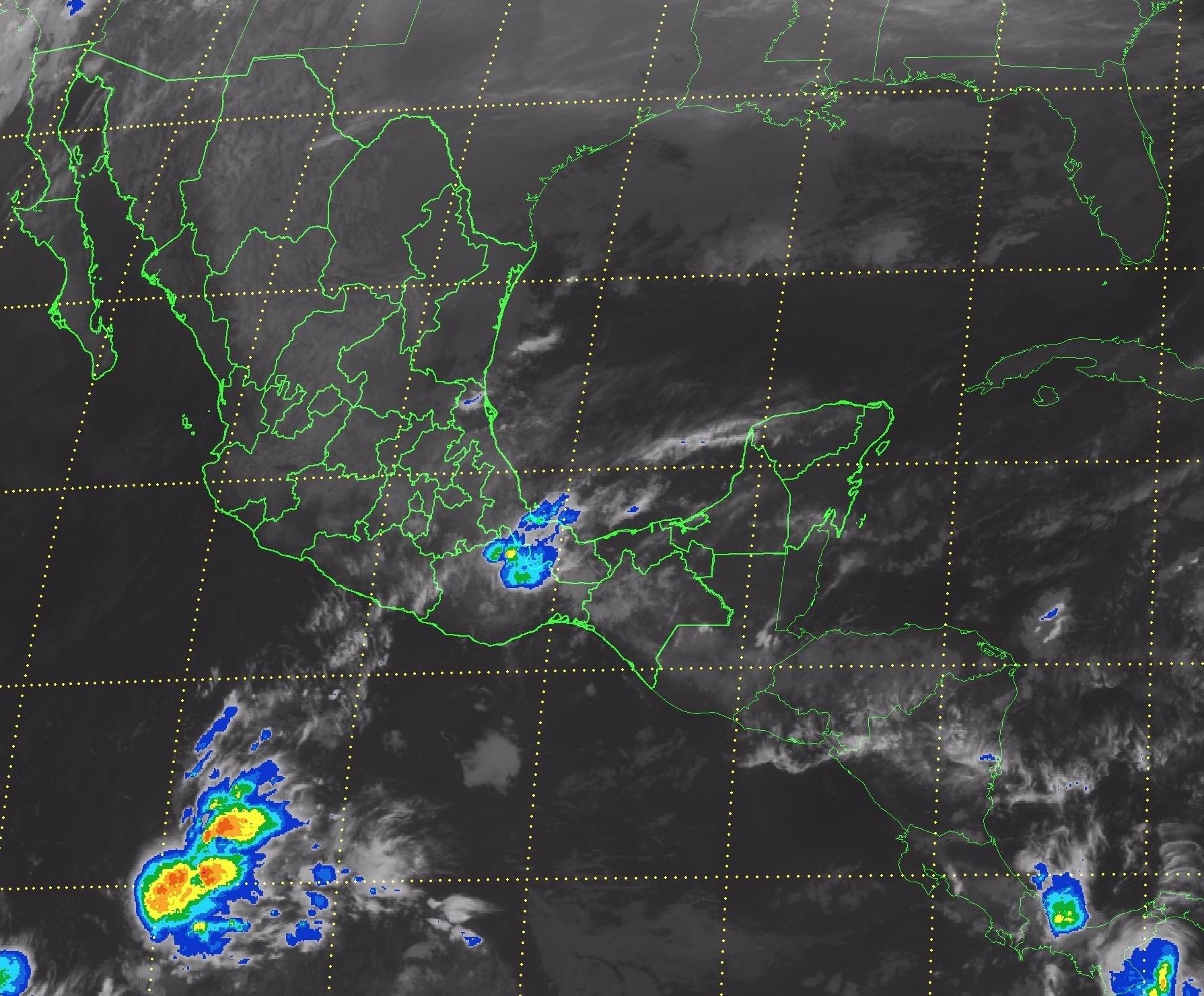 Para las próximas horas se pronostican tormentas muy fuertes en Puebla y Oaxaca.