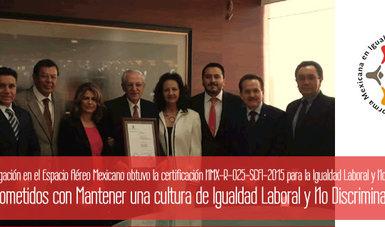 Recibe SENEAM de la SCT certificación de igualdad laboral y no discriminación