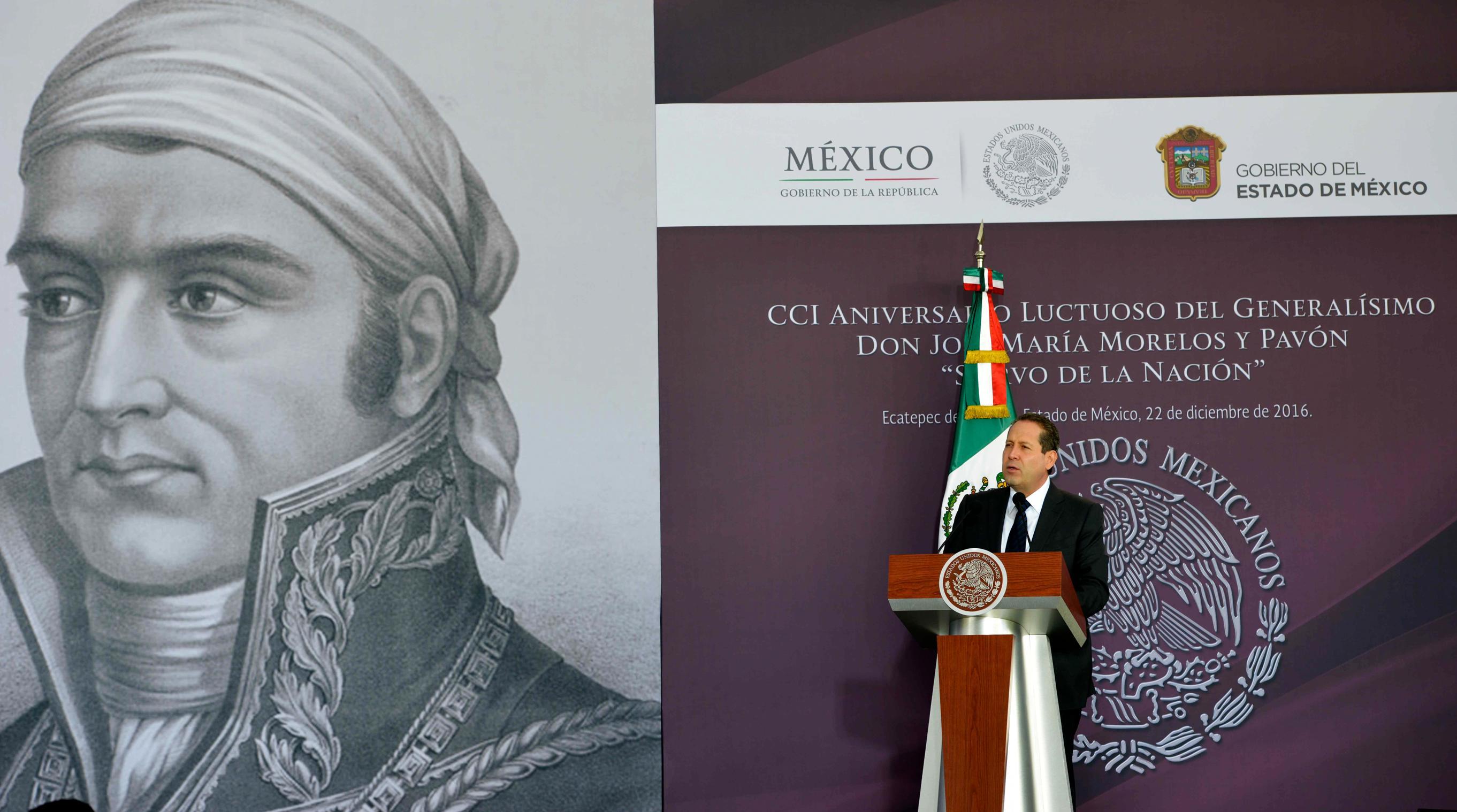 """""""Hoy tenemos un Comandante en Jefe, el Presidente de los Estados Unidos Mexicanos quien, con plena voluntad de transformación, nos convoca también a la unidad para enfrentar los retos de México en sí mismo y ante el mundo"""": EAV"""