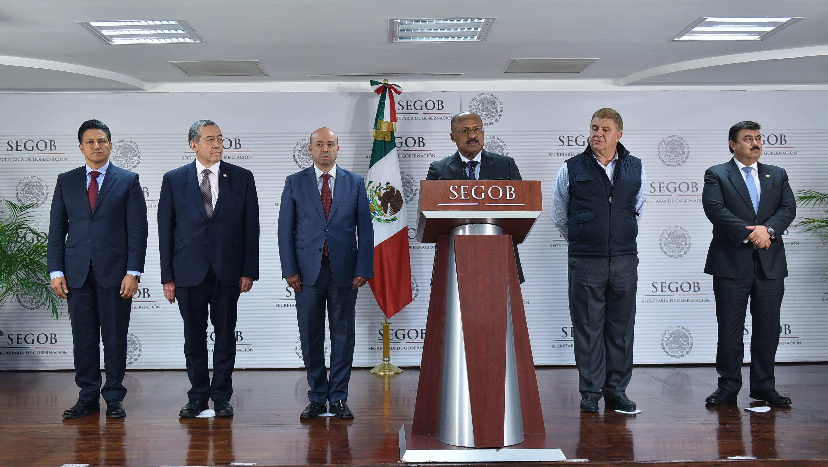 René Juárez Cisneros, Subsecretario de Gobierno, ofrece mensaje a medios