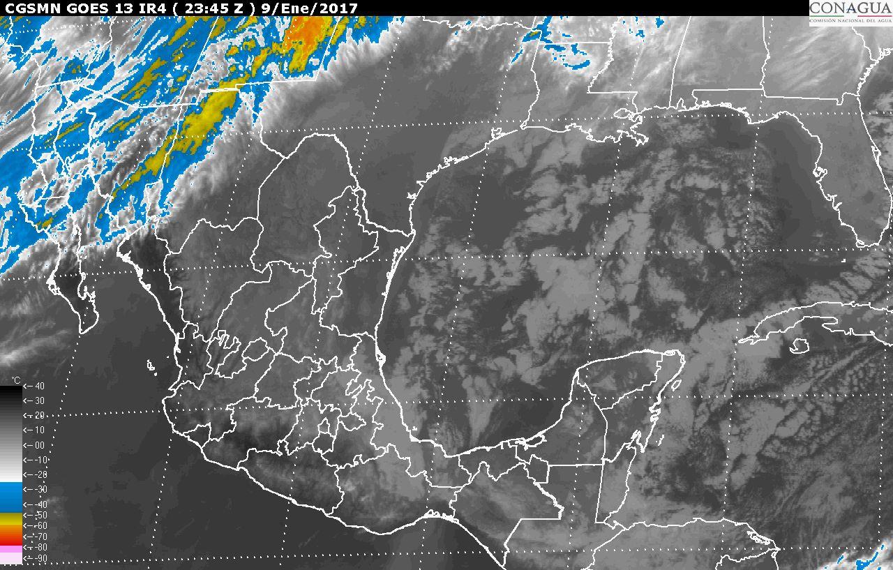 Continuará el ambiente muy frío en gran parte de México por la masa de aire polar que impulsó al Frente Frío Número 21
