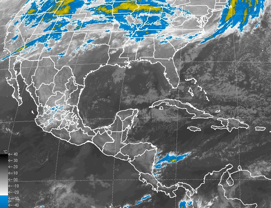 Condiciones estables con bajo potencial de lluvia, se prevén en la mayor parte de México