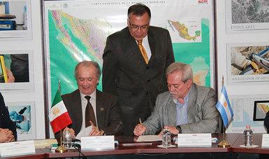 Suscriben acuerdo de cooperación Servicios Geológicos de México y Argentina