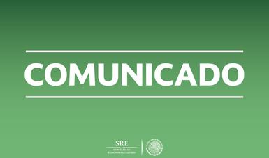 Anuncian SRE y SE reuniones de alto nivel en Washington, D.C.