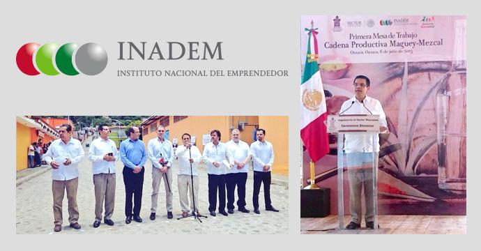 """INADEM participa en la Mesa de Trabajo """"Cadena Productiva Maguey-Mezcal"""" en Oaxaca"""