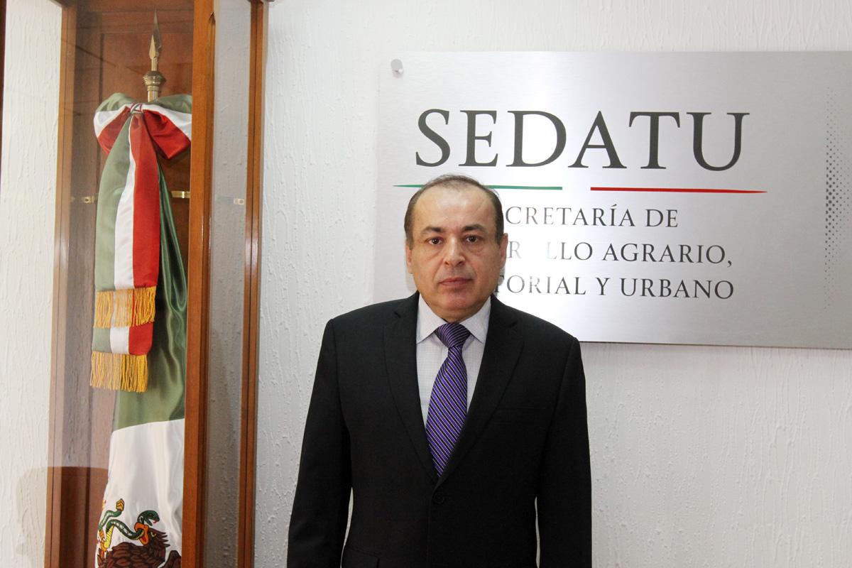 En la imagen, Arturo Nahle, asume la Subsecretaría de Desarrollo Agrario de la SEDATU.