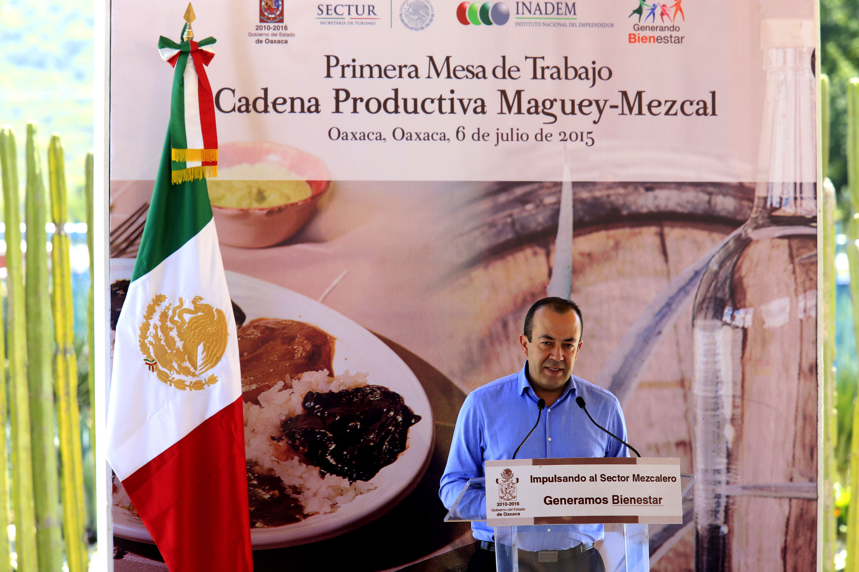 """El Subsecretario Francisco Maass Peña de la SECTUR en Mesa de Trabajo sobre """"La Cadena de Valor de la Gastronomía Mexicana: Maguey y Mezcal""""."""