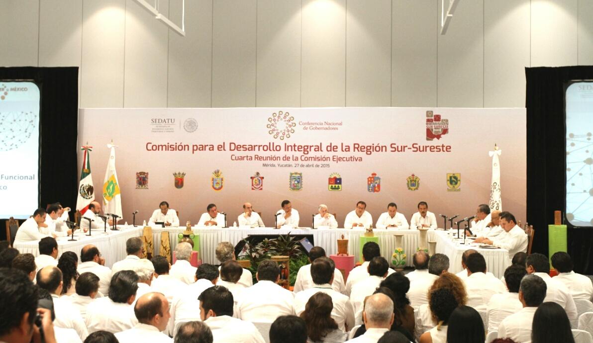 El titular de la SEDATU participó en la cuarta reunión de trabajo de la Comisión para el Desarrollo Integral de la Reunión Sur-Sureste perteneciente a la Conferencia Nacional de Gobernadores.